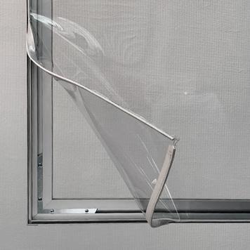 Aluminium Stretch Frame Partition Wall incl. transparent PVC Banner